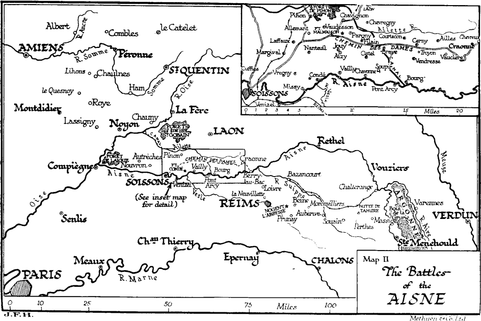 World War 1 Map Black And White. The Battles Of Aisne History of World War 1  Western Front